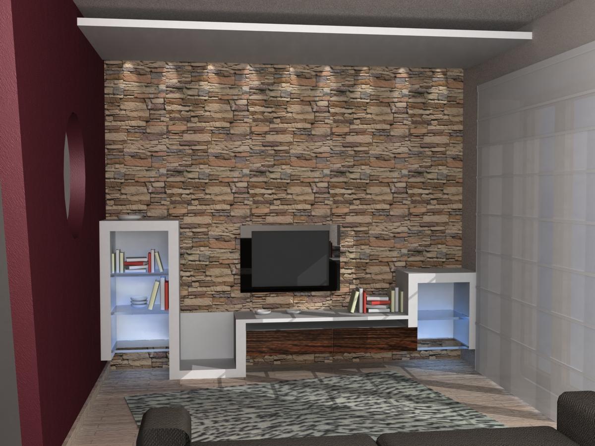 Parete di sassi hw24 pineglen - Sassi decorativi per interni ...